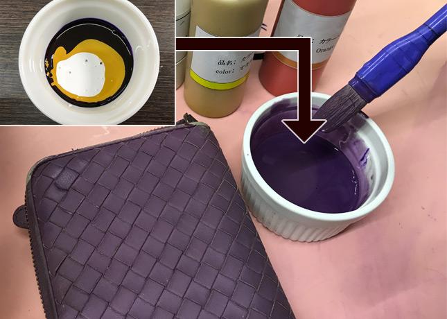 革修理の染料の配合