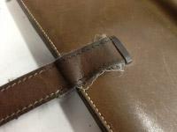 エルメスベアン財布のステッチ補強 ビフォー01