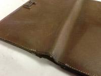 エルメス ベアン財布のステッチ修理 ビフォー02