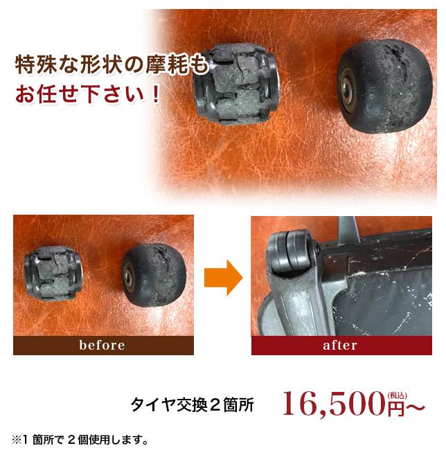 キャリーバッグ革修理 特殊な形状の場合